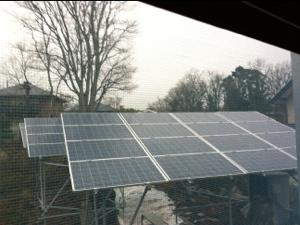 第1号ソーラー発電所建設までの道のり(架台の建設と計画の修正)