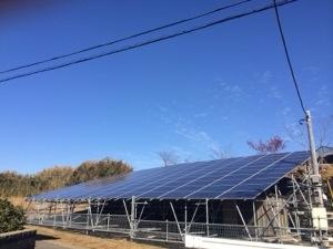野立てソーラー施工例 千葉の100kW超の野立てソーラー発電所