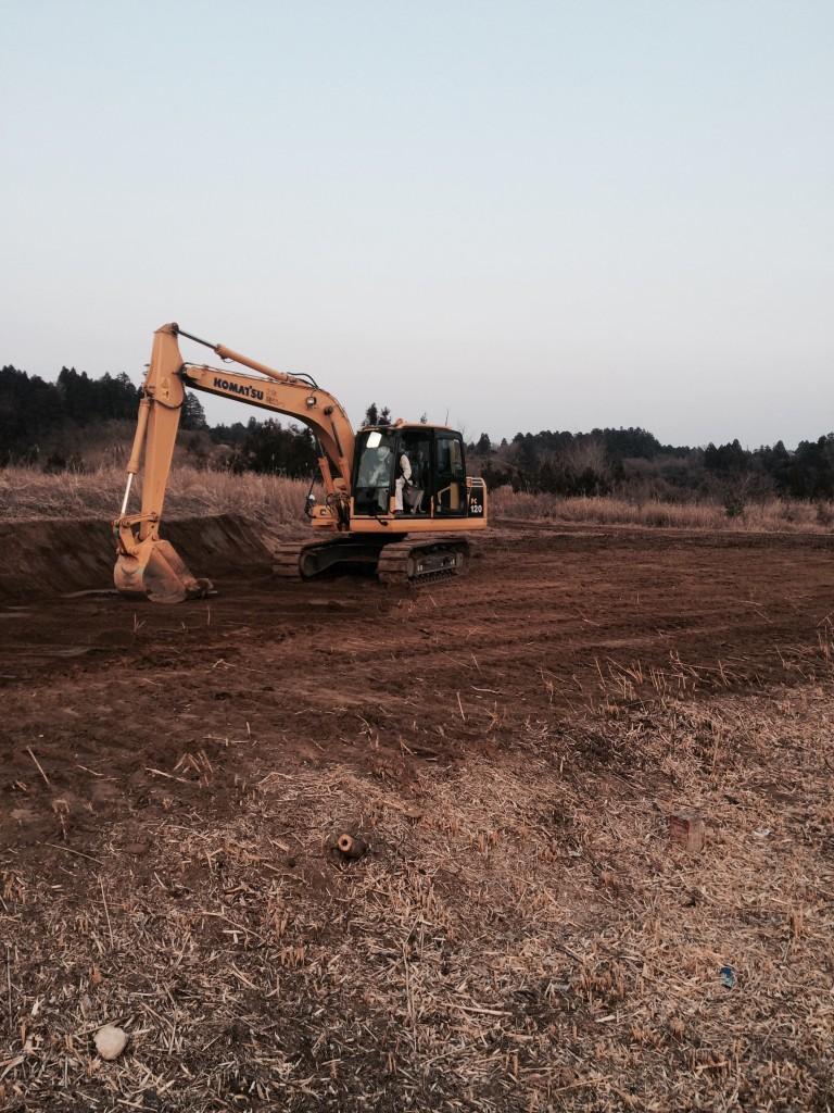第3号発電所 整地、防草シート、砕石敷設完了