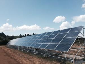 第4号発電所 工事風景 太陽光パネル設置完了